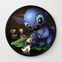 LILO E STITCH: CUTE STITCH PLAYING Wall Clock