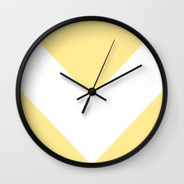 Large Pastel Butter Yellow Chevron Wall Clock