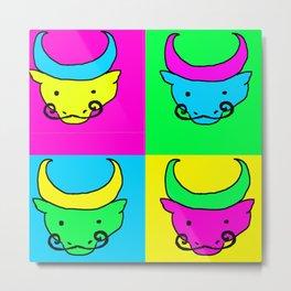 Water Buffaloes Metal Print