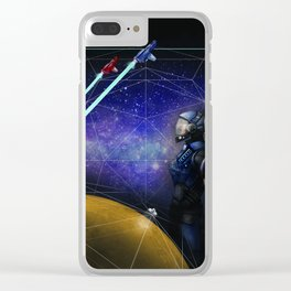 Space, man. Clear iPhone Case