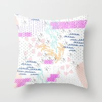 poop Throw Pillows featuring Party Poop by gingr.lily