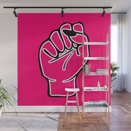 Red female fist Wall Mural