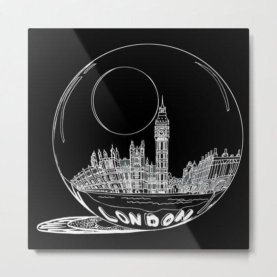 London on black background Metal Print