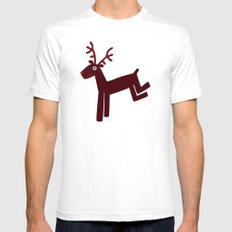 Reindeer-Red SMALL Mens Fitted Tee White