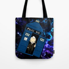 Tardis in space Doctor Who war 8.5 Tote Bag