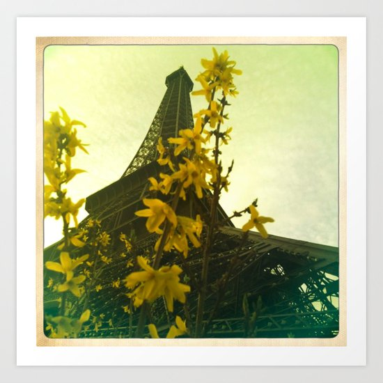 The Eiffel Flower (for Canvas) Art Print