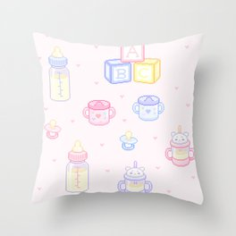 baby stuff Throw Pillow