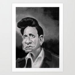 The Man in Black Art Print