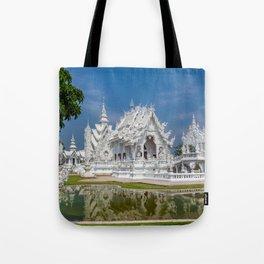 White Temple Thailand Tote Bag