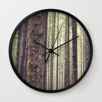 forest Wall Clocks featuring Forest by Kurt Rahn
