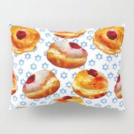 My Bubbie's Hanukkah Jelly Donuts (Hanukkah Sufganiyot) Pillow Sham