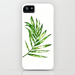Green ink painting - fern iPhone Case