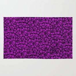 Dazzling Violet Vintage Flowers Rug