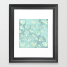 soft foliage in blue Framed Art Print
