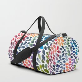 Colorful Painted Drops Duffle Bag