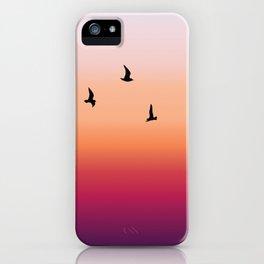 Summer birds iPhone Case