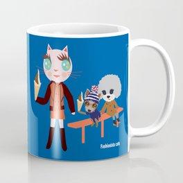 Fashionista Cats-Play hard Coffee Mug