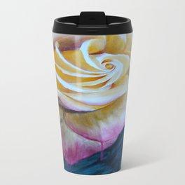 Pink and Yellow Rose painting Travel Mug