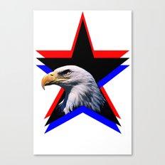 Bald eagle & the three star Canvas Print