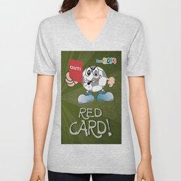 Red Card Comic Unisex V-Neck
