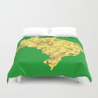 brazil Duvet Covers featuring Brazil by Ursula Rodgers