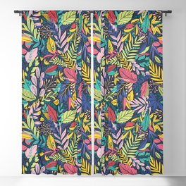 Fruit Tea Florals - Blackberry Blackout Curtain
