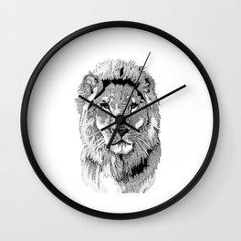 Animal Prints - Proud Lion - By Sharon Cummings Wall Clock