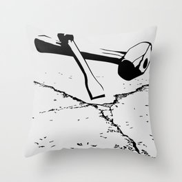 Chipping away Throw Pillow