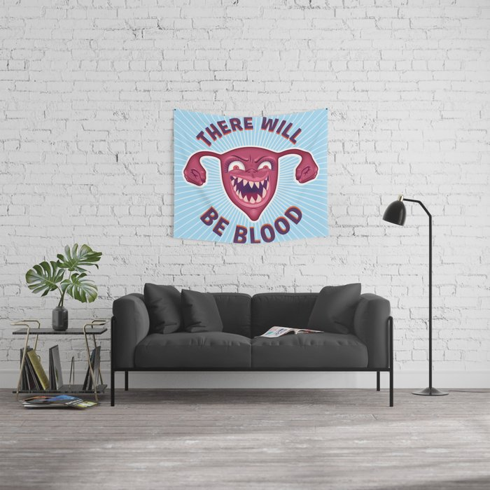 Crazed Uterus, There Will Be Blood Wall Tapestry