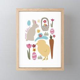 Hoppy Easter Framed Mini Art Print
