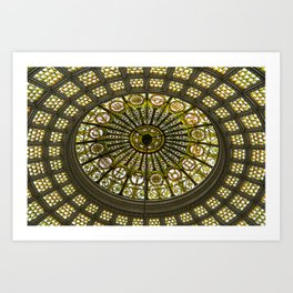 Tiffany Dome of the Chicago Cultural Center Art Print