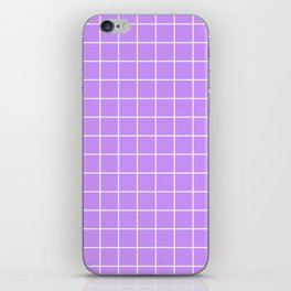 Lilac with White Grid iPhone Skin