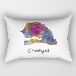 Senegal in watercolor Rectangular Pillow