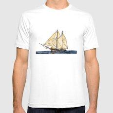 sail White Mens Fitted Tee MEDIUM