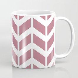 Dusty pink and white chevron pattern Coffee Mug
