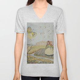 """Arrival of the Spring Fairy"" by Elsa Beskow (1900) Unisex V-Neck"