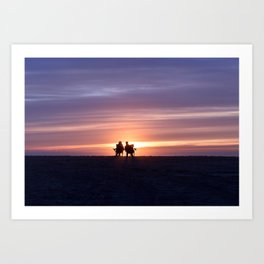 Lovers on Venice Beach, California Art Print