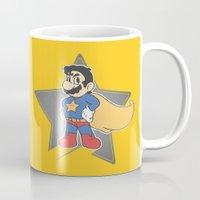 super mario Mugs featuring Super Mario by tshirtsz
