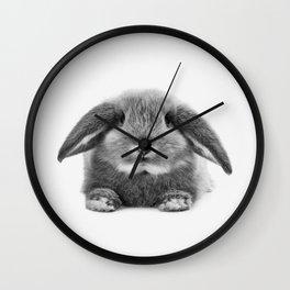 Bunny rabbit sitting Wall Clock
