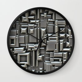 Brushed Metal Techno Plate Wall Clock