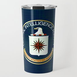 CIA Flag Grunge Travel Mug