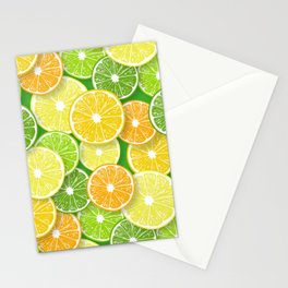 Citrus fruit slices pop art 3 Stationery Cards