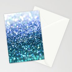 ocean glitter Stationery Cards