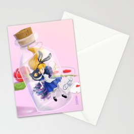 Alice in a bottle (drink me) Stationery Cards