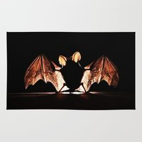 bat Area & Throw Rugs featuring bat by new art