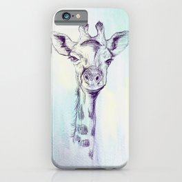 Watercolor and Ink Giraffe iPhone Case