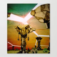 grid Canvas Prints featuring Grid by Zack Rogers