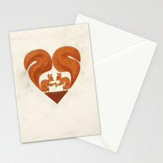 Love Heart Squirrels Stationery Cards