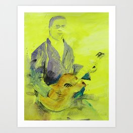 Blind Lemon Jefferson American Blues Musician Art Print