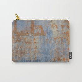 Textured Vintage Sign Carry-All Pouch